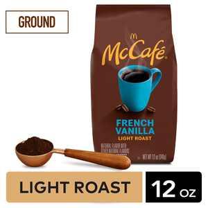 McCafe French Vanilla Flavored Ground Coffee, Light Roast, 12 oz Bagged
