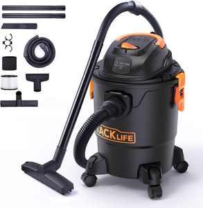TACKLIFE Wet/Dry Vacuum, 5 Gallon Shop Vacuum 5.5 Peak HP, Lightweight Powerful Suction Shop Vacs