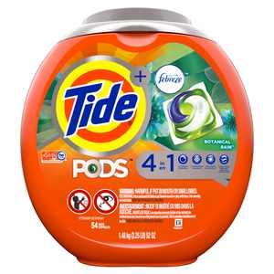 Tide Pods Febreze Botanical Rain, 54 ct Laundry Detergent Pacs
