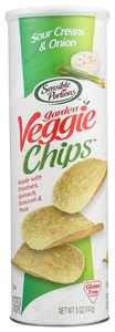Sensible Portions Sour Cream & Onion Garden Veggie Chips In A Canister , 5 Oz