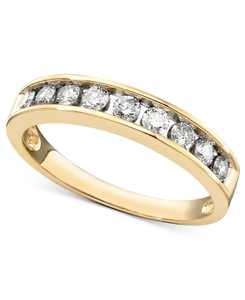 Diamond Channel Ring (1/2 ct. t.w.) in 14k Yellow or Rose Gold