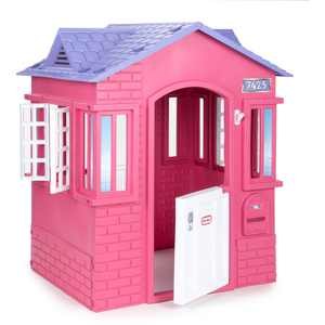 Little Tikes Cape Cottage House, Pink - Pretend Playhouse with Working Doors, Window Shutters, and Flag Holder, for Kids 2-8 Years Old