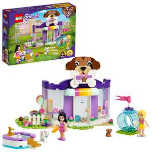 LEGO Friends Doggy Day Care 41691 Building Toy; Includes 2 Mini-Dolls and 2 Toy Dog Figures (221 Pieces)