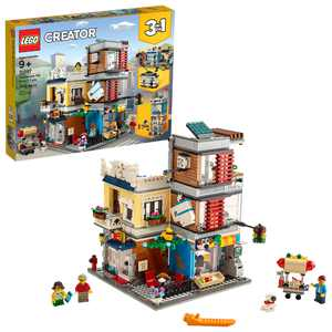 LEGO Creator 3-in-1 Townhouse Pet Shop & Cafe 31097 Store Building Set