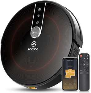 MOOSOO RT50 Robot Vacuum Wi-Fi Connected 2200Pa Suction Robotic Vacuum Cleaner Ideal for Pet Hair Carpet Hard Floors