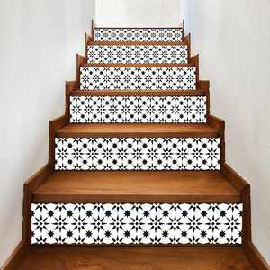 Womail 6Pcs Staircase Stair Riser Floor Sticker DIY Wall Decal Fashion Stairs Decal