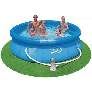 "Intex 10' x 30"" Easy Set Swimming Pool & 330 GPH Filter Pump   28121EH"