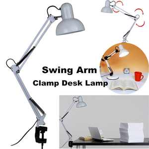 Adjustable Swing Arm Drafting Clip Lamp Design Office Studio Clamp Table Desk Light Lamp with Switch