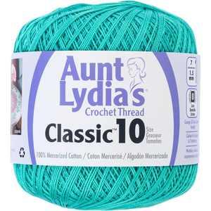 Coats 154-962 Aunt Lydias Classic Crochet Thread - Jade, Size 10