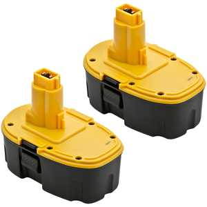 Replacement for Dewalt DC9096 / DW9096 / DW9098 18V Battery - 1500mAh (2 Pack)