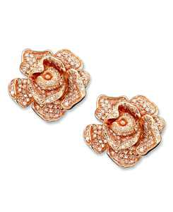 Pave Rose by EFFY Diamond Flower (1-1/3 ct. t.w.) in 14k Rose Gold