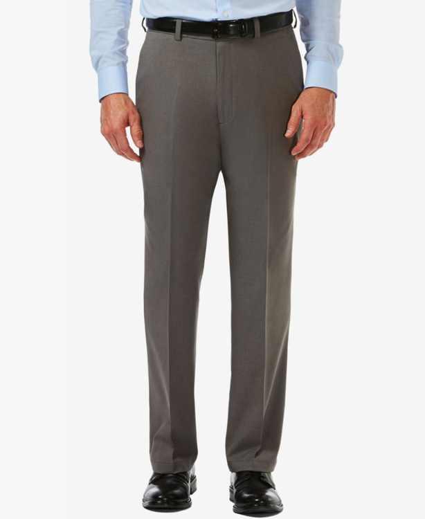Men's Cool 18 PRO Classic-Fit Expandable Waist Flat Front Stretch Dress Pants