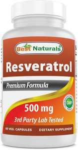 Best Naturals Resveratrol 500 per serving mg 60 Capsules