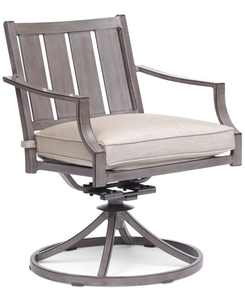 Wayland Outdoor Swivel Chair with Sunbrella Cushion, Created for Macy's