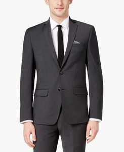 Men's Skinny Fit Stretch Wrinkle-Resistant Wool Suit Jacket, Created for Macy's