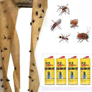 Womail 4 Rolls Sticky Fly Paper Eliminate Flies Insect Bug Glue Paper Catcher Trap