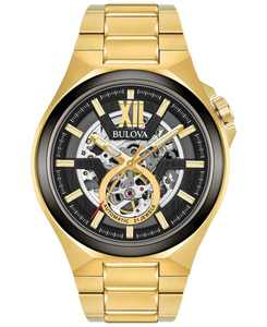 Men's Automatic Gold-Tone Stainless Steel Bracelet Watch 46mm 98A178