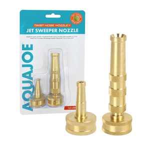 Aqua Joe SJI-4BHNC 2-In-1 Twist Hose + Jet Sweeper Nozzle