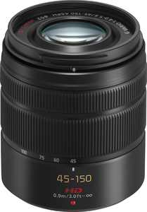 Panasonic - Lumix G Vario 45-150mm f/4.0-5.6 ASPH. Mega O.I.S. Zoom Lens - black
