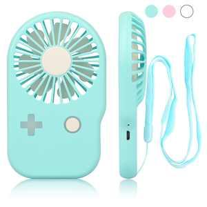 Handheld Fan Mini Fan Pocket Small Personal Portable Fan 2 Speed Adjustable USB Rechargeable Fan for Kids Girls Woman Home Office Outdoor Travel, with free lanyard