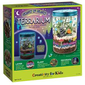 Creativity for Kids Grow N Glow Terrarium Child Craft Activity for Boys and Girls
