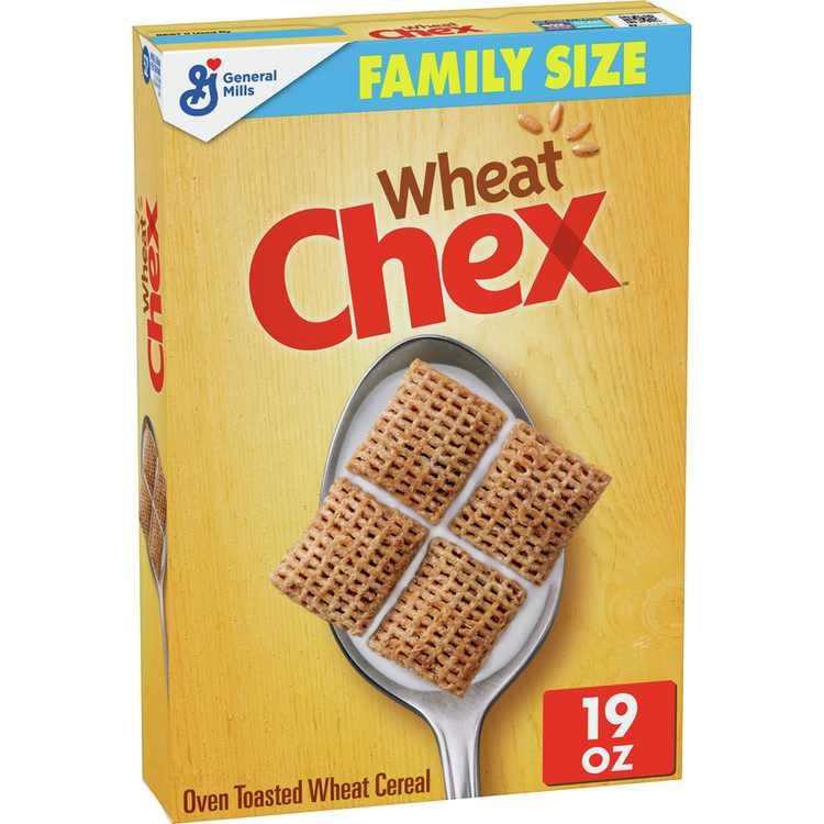 Wheat Chex Breakfast Cereal, Whole Grain, 19 oz Box