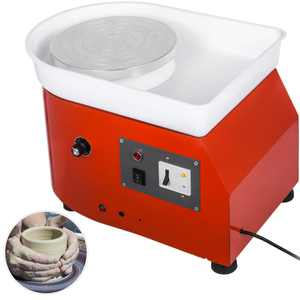VEVOR Pottery Wheel 25cm Pottery Forming Machine 350W Electric Pottery Wheel DIY Clay Tool with Tray for Ceramic Work Ceramics Clay (25cm)