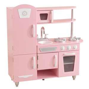 KidKraft Wooden Vintage Play Kitchen - Pink