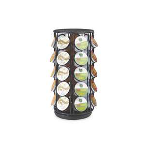 Mind Reader 35 Capacity Rotating Metal K-cup Carousel Pod Holder, Black