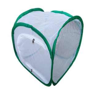 Foldable Light-transmitting Insect Butterfly Habitat Net Mesh Terrarium with Zipper Opening