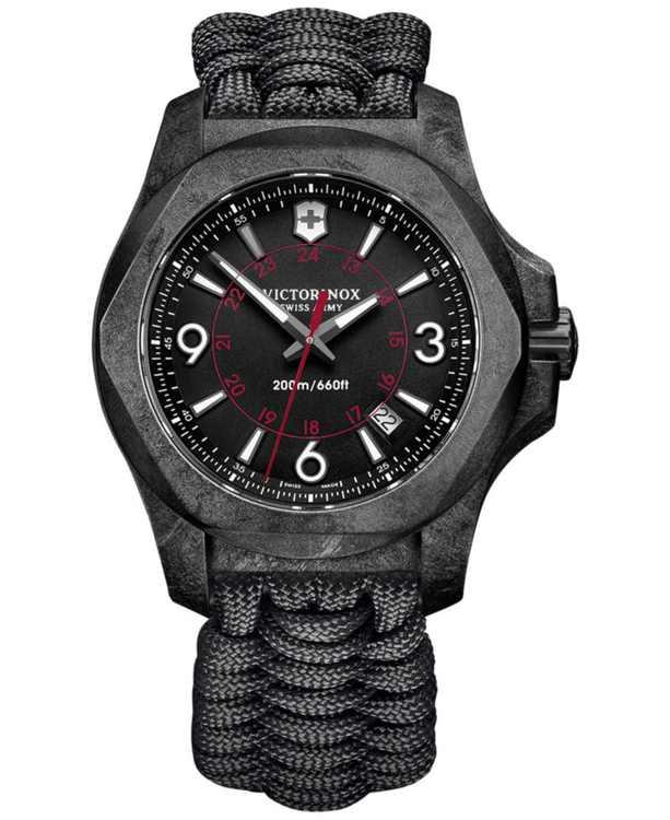 Men's I.N.O.X. Carbon Black Paracord Strap Watch 43mm