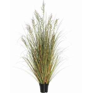"Vickerman 48"" PVC Artificial Potted Green and Brown Grass and Plastic Grass"