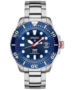 Men's Prospex Solar Diver PADI-Edition Stainless Steel Bracelet Watch 44mm SNE435