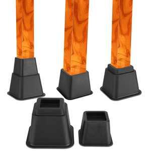 Adjustable Bed Riser Set, Estink 8Pcs Heavy Duty Chair Furniture Risers Lift Blocks, 3, 5, 8 inches