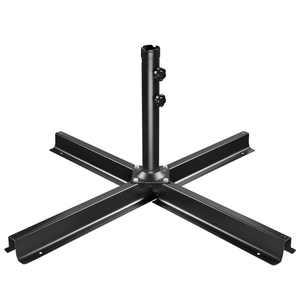 Yescom Patio Umbrella Stand Cross Base Outdoor Offset Umbrella Metal Frame