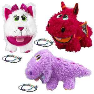 Stuffies (3 Pack) Baby Stuffed Animals Plush Toys Cat Dragon and Dinosaur