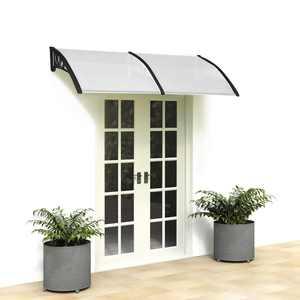 "Ktaxon 35.4""x 77"" Window Door Awning Sun Shade Canopy Hollow Sheet UV Rain Snow Protection"