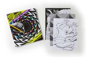 Crayola Art with Edge Optical Illusions Coloring Book, 40 Pages, Child
