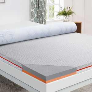 Maxzzz Memory Foam Bamboo Mattress Topper Queen 3 Inch Bed Topper