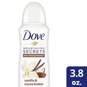 Dove Nourishing Secrets Dry Spray Antiperspirant Deodorant Vanilla & Cocoa Butter, 3.8 Oz.