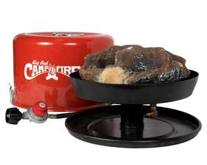 Camco 58035 Big Red Campfire - Approved for RV Campgrounds - Includes 10-Foot Propane Hose