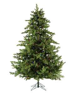 Fraser Hill Farm 7.5-Ft. Foxtail Pine Artificial Christmas Tree with Multi-Color LED Lights and EZ Connect