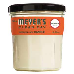 Mrs. Meyer's Clean Day Scented Soy Candle, Small Glass,Pumpkin, 4.9 oz