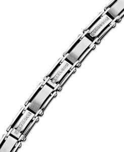 Men's Diamond Bracelet in Stainless Steel (1/2 ct. t.w.)