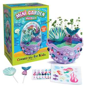 Creativity for Kids Mini Garden Mermaid- Child Craft Kit for Boys and Girls