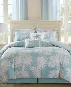 Palm Grove 6-Pc. Botanical Print Full Comforter Set