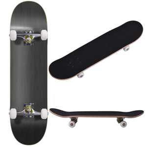 JAXPETY Blank Complete Skateboard, Stained Black (31 In. x 7.75 In.)