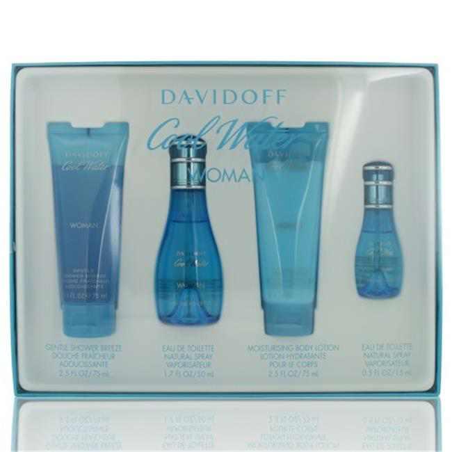 Davidoff Cool Water Fragrance Gift Set, 4 pc