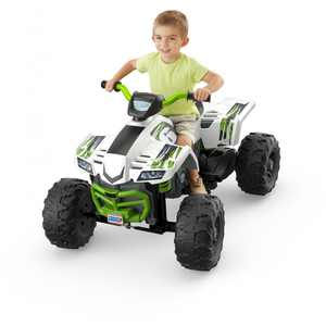 Power Wheels Racing ATV Ride On Vehicle for Ages 3 to 7 Years Old