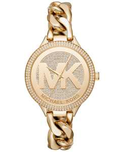 Women's Outlets Gold-Tone Stainless Steel Chain Bracelet Watch 38mm